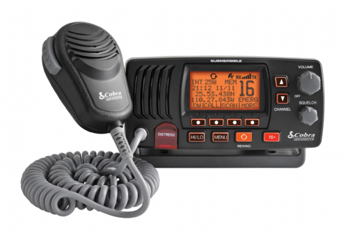 Cobra MR F57B E Fixed Marine VHF Radio Submersible